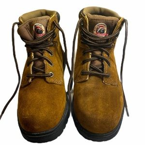 Brahma Hiking Working Boots Leather Shoes Mens 6W